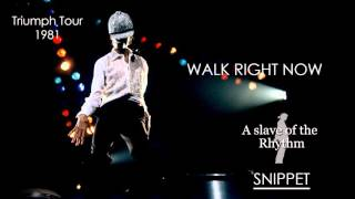 ULTRA RARE: The Jacksons | Walk right now, LIVE in Triumph Tour 1981 - Snippet