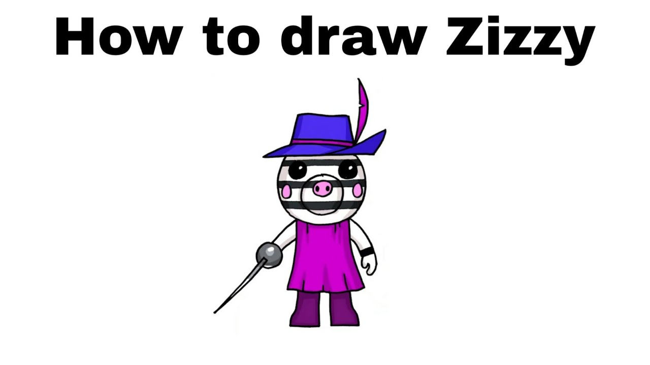 Piggy Roblox Drawings Cute How To Draw Zizzy Roblox Piggy Step By Step Youtube
