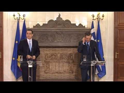 Declaratii Primilor ministri Victor Ponta si Antonis Samaras la Atena