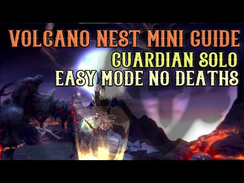 Dragon Nest - Volcano Nest (Easy) Guardian Solo No Deaths Mini-Guide & Playthrough ~!