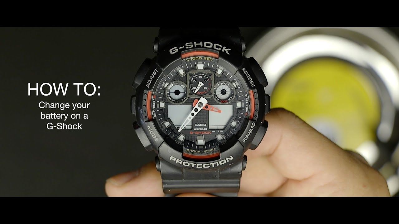 How To Change Your Battery On A G-shock Watch