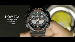 how to change your battery on a g shock watch