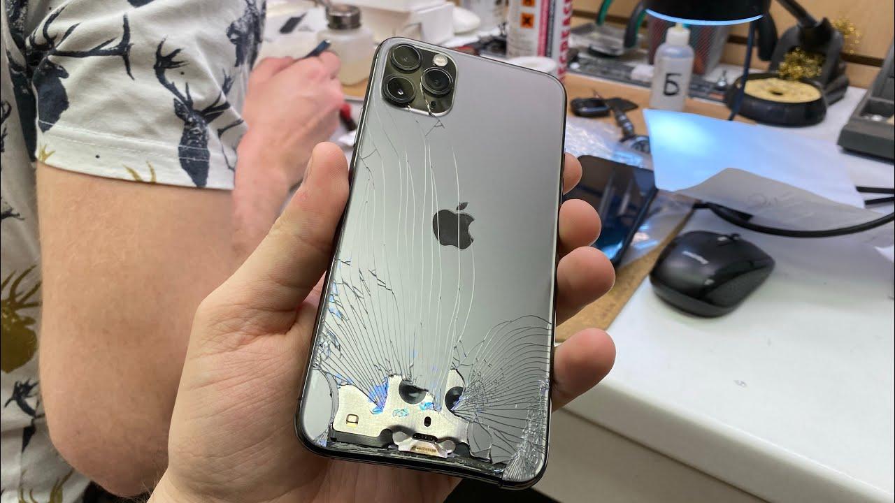 Когда НЕТ СМЫСЛА ремонтировать - iPhone 11 Pro Max - YouTube