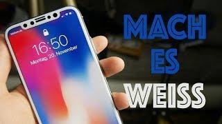 Mach dein iPhone X Display WEIß! - Pomelo Best Displayschutz für`s iPhone X