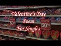 Valentines Day Poem for Singles   Funny Poems