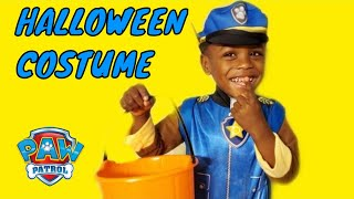 Miracle Baby Josiah Dress Up in Chase Paw Patrol Halloween Costume