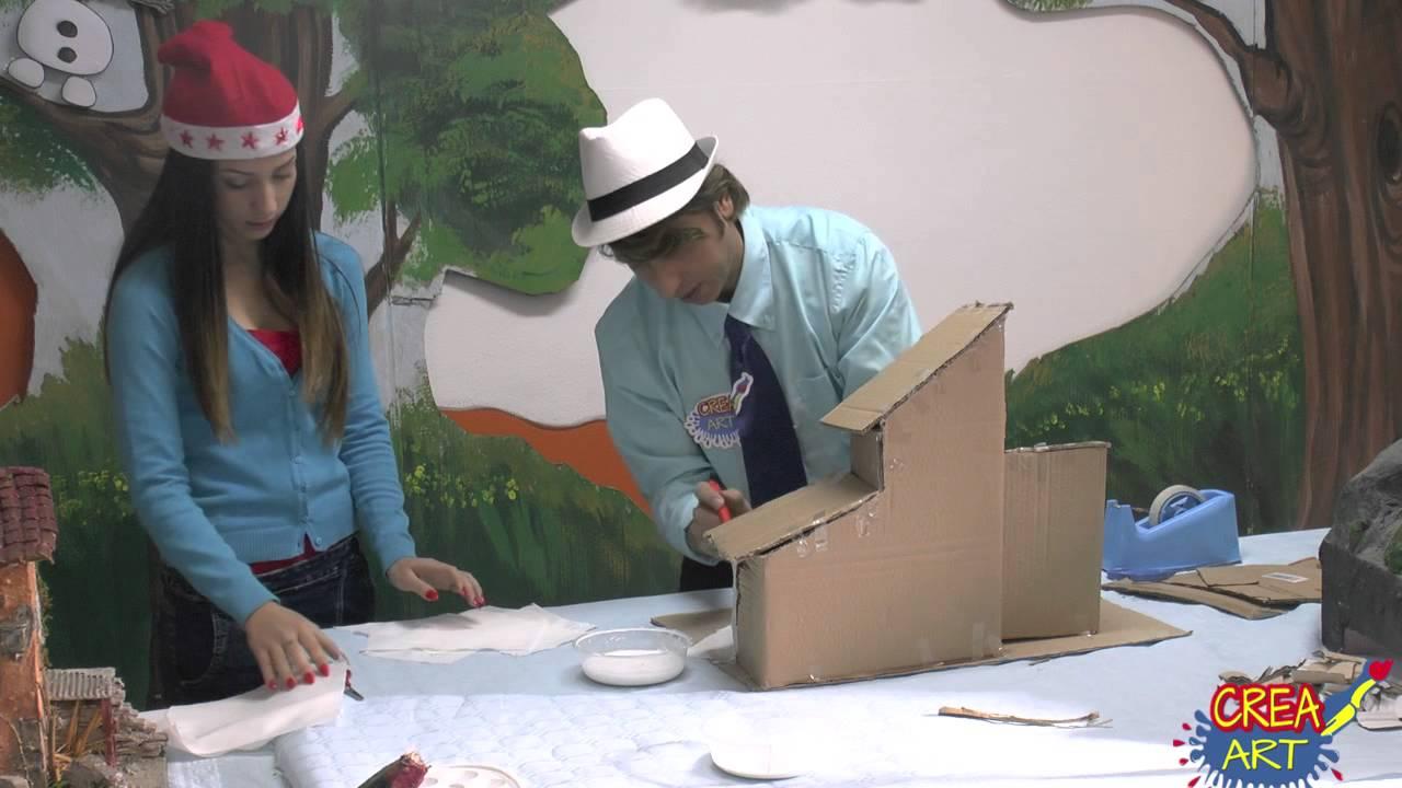 Crea art come creare casette per il presepe youtube - Casette di cartone da costruire ...