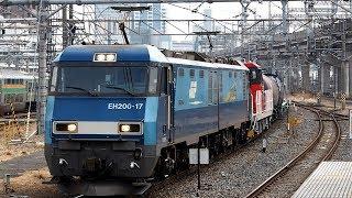 2019/03/01 【HD300-32 & タンク車 貨車配給】 EH200-17 大宮駅 | JR Freight: HD300-32, Tank & Container Cars