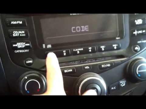 2004 Honda Accord, radio code locked
