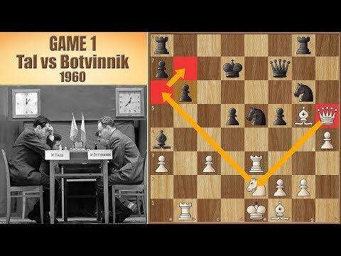No One Became World Champion by Accepting a Draw  Tal vs Botvinnik 1960.  Game 1