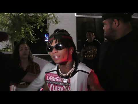 Swae Lee from Rae Sremmurd talks about Donald Trump outside of Project LA in Hollywood