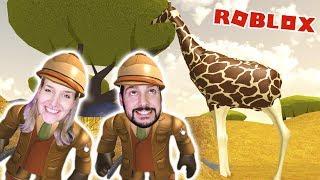 Roblox: SAFARI ESCAPE - Kaan & Nina flee from wild animals | ESCAPE SAFARI OBBY