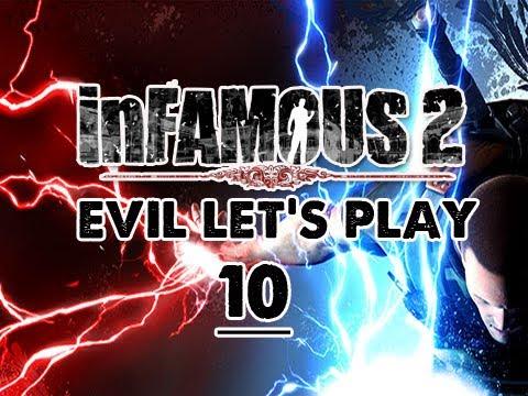 Infamous 2: EVIL Walkthrough Let's Play Eps. 10 Storm the Fort Exchange FIRE Powers w/ Nix
