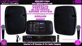 PORTABLE BLUETOOTH KARAOKE SYSTEM WITH NEO 22 PRO KARAOKE PLAYER SD Card, USB, CDG, DVD, MP3 ✅