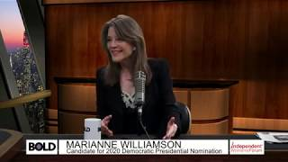 Bold TV Chats With Marianne Williamson About Her 2020 Presidential Campaign