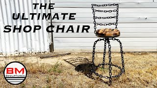 Shop Chair Using Welded CHAIN & SCRAPWOOD / Woodworking and Metal Fabrication