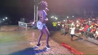 Ebony rocked the stage of the Fancy Gadam Concert In Kumasi