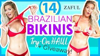 CHEEKY & THONG BIKINI TRY ON HAUL | 14 NEW Zaful Bikinis!
