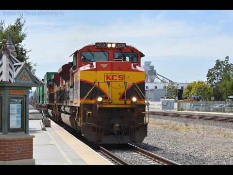 Amazing Union Pacific, CSX and NS action at Downtown Pomona, and Ontario Amtrak Feat CSX SD80MAC