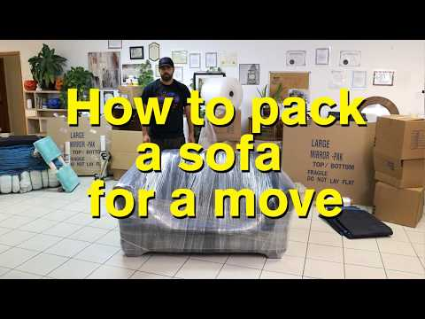 How To Pack A Sofa For Moving