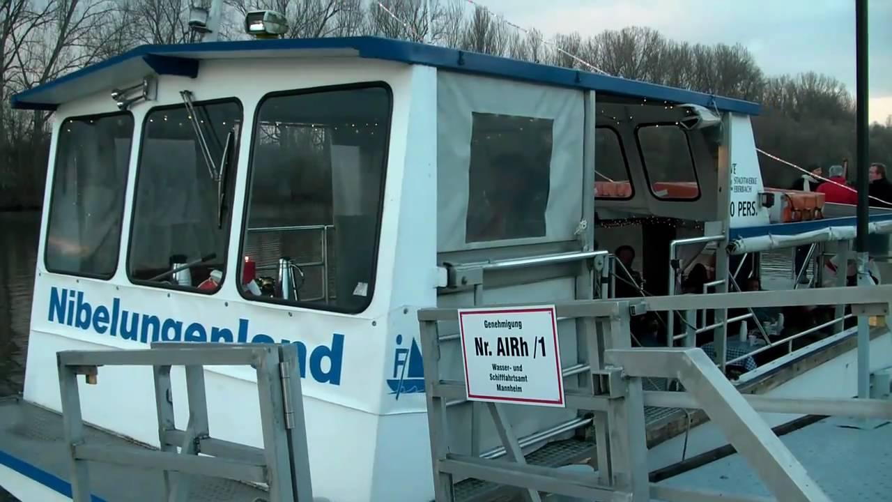 Rhein Gluhweinfahrt Im Lampertheimer Altrhein Youtube