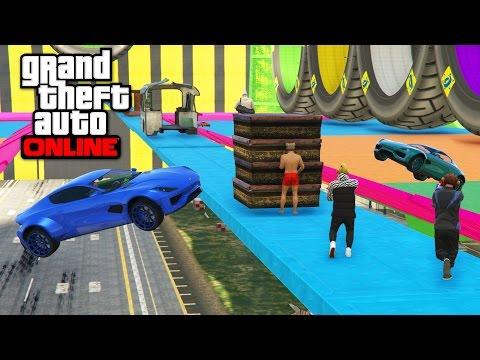 NEW CAR VS RUNNERS - GTA 5 ONLINE