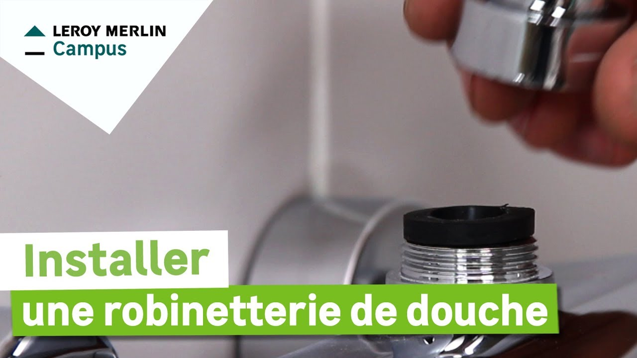 comment installer une robinetterie de douche leroy merlin youtube. Black Bedroom Furniture Sets. Home Design Ideas