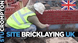 Site Bricklaying Trench Block footings UK
