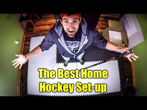 The Ultimate at Home Hockey Training set-up