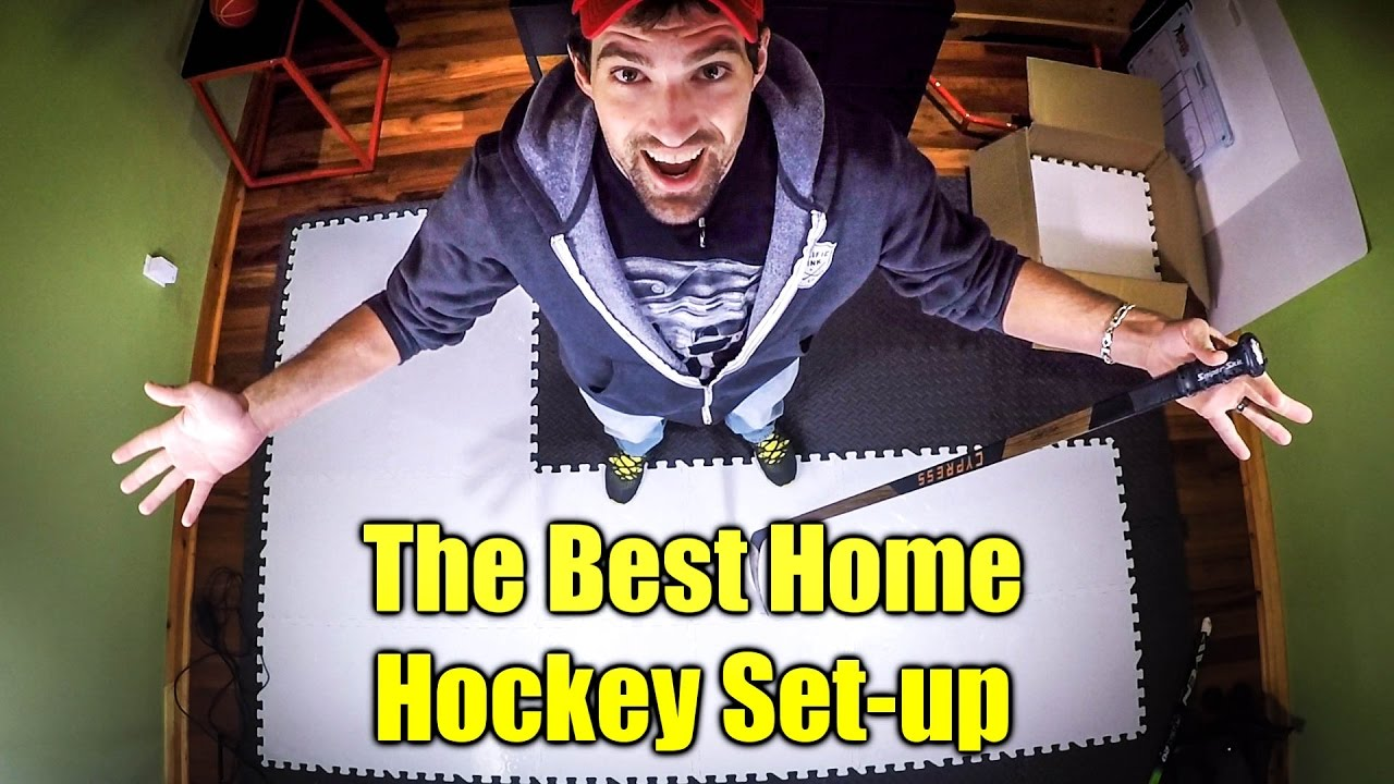 902e2faa9d6 The Ultimate at Home Hockey Training set-up - YouTube