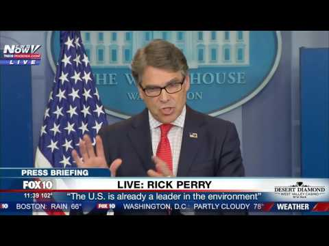 HIGH ENERGY: Rick Perry White House Press Briefing On Energy And Climate Change