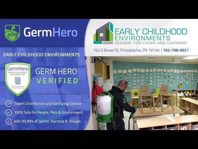 Early Childhood Environments in Philadelphia PA is Germ Hero Verified