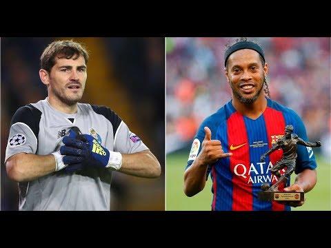 Iker Casillas sends classy tribute to Ronaldinho following his official retirement
