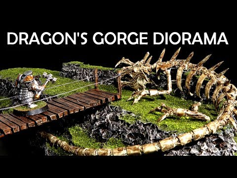 Dragon's Gorge - How to Build a Simple Diorama for D&D or Warhammer (Interactive Terrain)