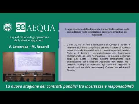 La Qualificazione Degli Operatori E Delle Stazioni Appaltanti - Accardi