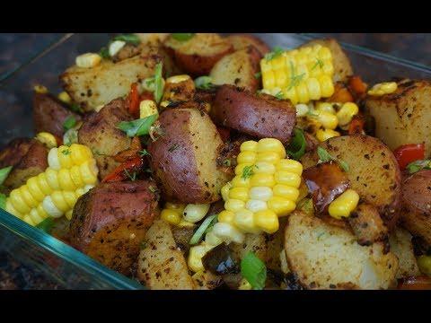 Sheet Pan Roasted Red Potato Veggie Salad