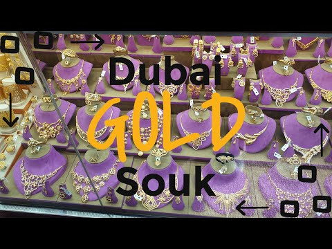 * TOURIST DESTINATION IN DUBAI *…….. Gold Souk Dubai / Gold Market Deira / CHEAP GOLD SHOPPING