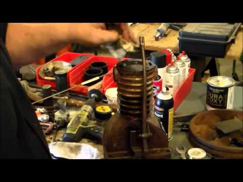 Converted Air Compressor to Gas Engine pt#4