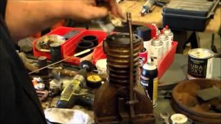 converted air compressor to gas engine pt 4