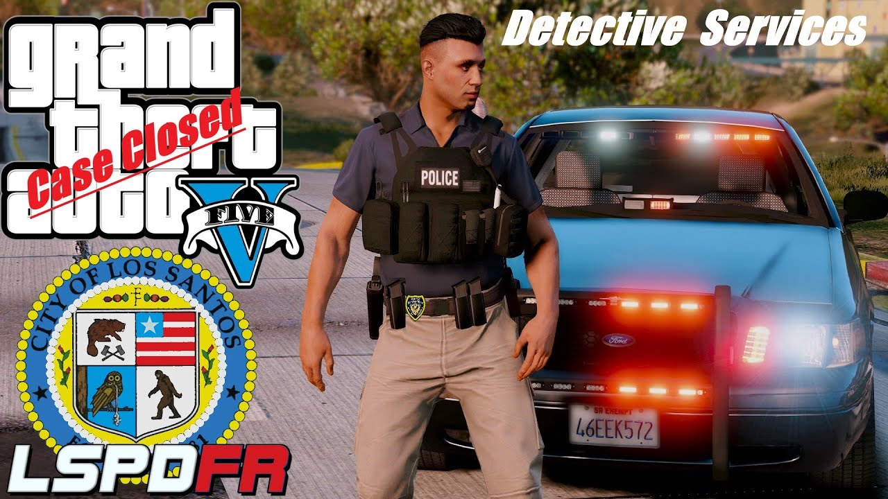 Detective Gunz on the Case civilian shot by brother ! New GTA 5 Police mods #74 LSPD crimestoppers