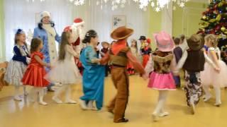 Вход Деда Мороза Веселый хоровод с Дедом Морозом Новогодний утренник в детском саду