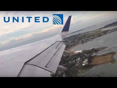 United Airlines 757-300 pushback, taxi, takeoff at Boston (BOS)