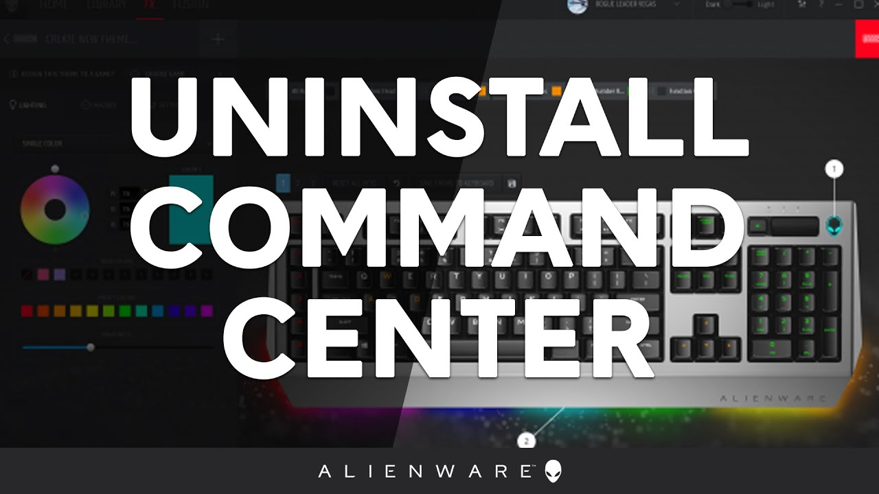 How to Uninstall the Alienware Command Center