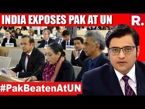 India Rips Pakistan Apart At UNHRC | The Debate With Arnab Goswami