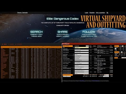 Elite: Dangerous. Useful 3rd party tools. Virtual shipyard and outfitting