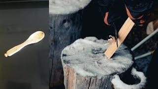 Como Tallar cuchara de madera by Leo #Bushcraft