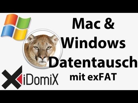 Mac OS X Datenaustausch mit Windows und Linux über externe Medien via exFAT