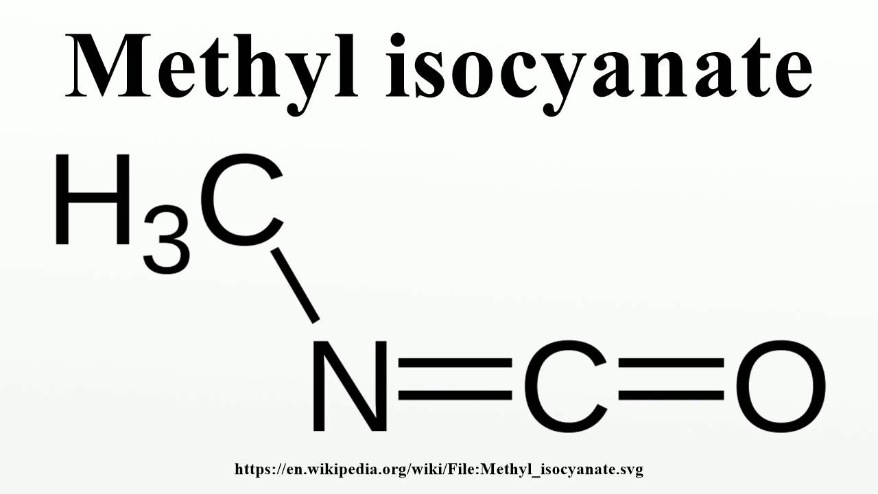 Image result for methyl isocyanate formula