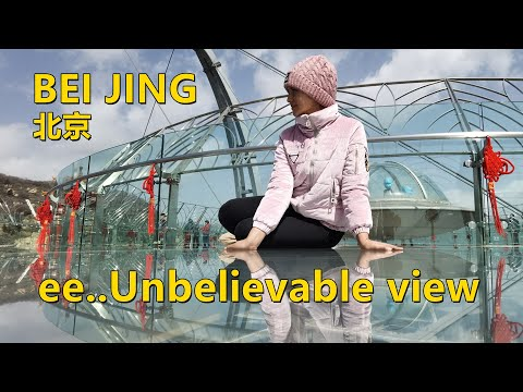 Glass bridge Beijing china | My first time! | 北京玻璃桥 | 4k | 美月 Mahzaib vlogs(25)