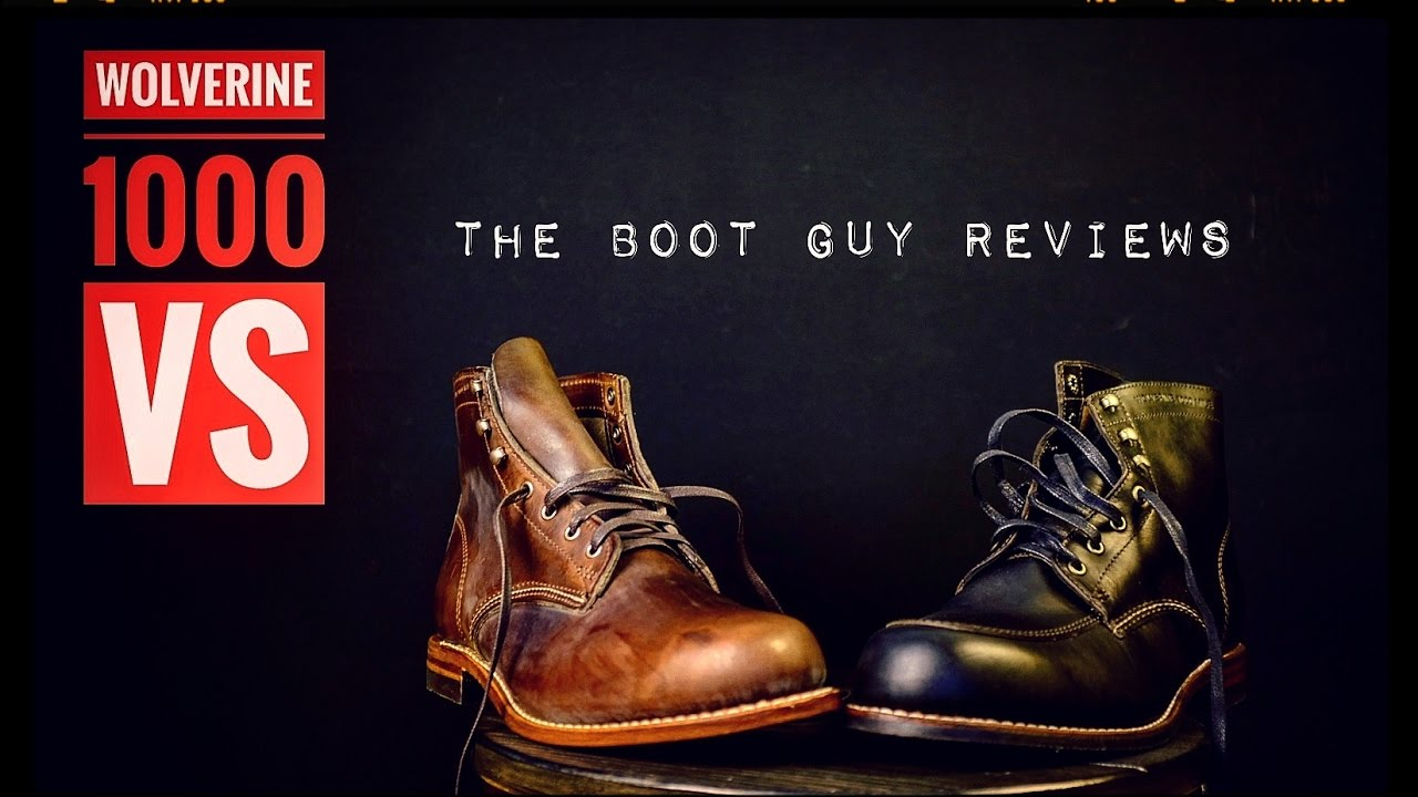 56925fdb840 WOLVERINE 1000 MILE VS WOLVERINE COURTLAND [ The Boot Guy Reviews ]